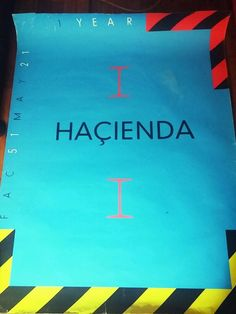 Factory records fac51 hacienda poster 83 1st anniversary saville joy division in Entertainment Memorabilia, Music Memorabilia, Rock & Pop | eBay