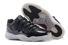 2015 Air Jordan 11 (XI) Low Black Gym Red White Anthracite Shoes ...