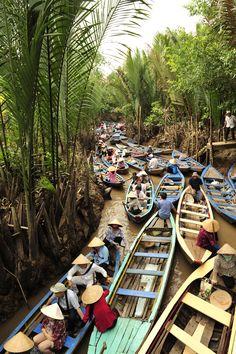 Vietnam - Ben Tre Hanoi Vietnam, Vietnam Travel, Laos, Good Morning Vietnam, Beautiful Vietnam, Nature Images, Southeast Asia, Places To See, Tourism