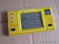 videojuego tipo game and watch amarilla sea ranger lcd game mini arcade miniarcade con tapa de pilas