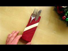 Range couvert: Pliage de serviette en papier 2 couleurs - Facile et rapide. - YouTube