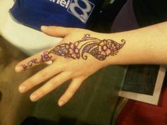 Henna by Raven with glitter on top