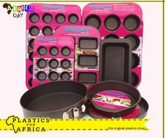 Bake up a storm this winter with these assorted muffin pans, baking trays, loaf pans, cake pans, quiche pans and springform pans from #PlasticsforAfrica. Visit your nearest branch today. #ilovebaking