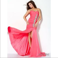 Jovani (Inspired) Coral Pink Prom Dress