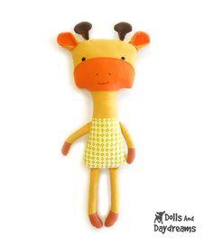 Dolly Donations: Giraffe Softie Stuffed Toy PDF Sewing Pattern Finished!