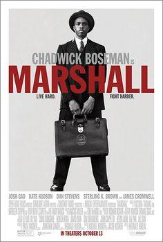 First Poster for Biopic-Drama 'Marshall' - Starring Chadwick Boseman Josh Gad Kate Hudson and Dan Stevens Films Hd, Imdb Movies, 2018 Movies, Top Movies, Movies Free, Comedy Movies, Watch Movies, Hd Streaming, Streaming Movies