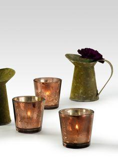 bronze mercury glass votives