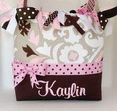 Kaylin Pink Pudding Diaper Bag Diaper by sassygatormonograms, $69.00
