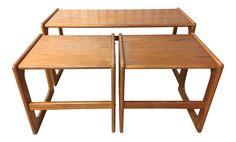 Vintage Modern Danish Nesting Tables - Set of 3 on Chairish.com