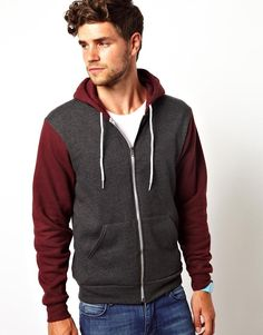 American Apparel | Hoodie With Block Sleeves