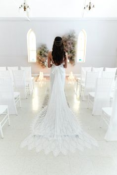 Ethereal Dresses are perfect for the romanic bride. This pretty style shoot will inspire. From the simple yet elegant wedding gown to the soft colour theme. Ethereal Wedding Dress, Elegant Wedding Gowns, Backless Wedding, Wedding Dresses, Couture Cakes, Hair Piece, Bridal Boutique, Wedding Vendors, Silk Flowers