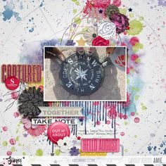 Captured | The Lilypad Digital Scrapbooking Layouts, Scrapbook Pages, Dee Dee, Layout Inspiration, Creative, Design Inspiration
