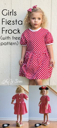 Make a cute dress with this free girls dress pattern