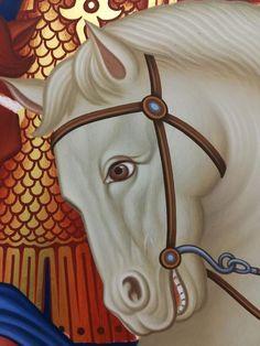 Byzantine Icons, Byzantine Art, John Chrysostom, Paint Icon, Religious Icons, Art Poses, Orthodox Icons, Horse Art, Style Icons