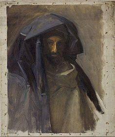 John Singer Sargent, Man in Blue Turban, c. 1890-1891. Fogg Art Museum, Boston.