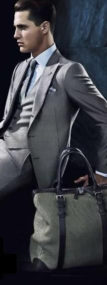 gentleman bags are well formed & their design is rather highly practical with great care for details - Armani