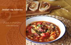 Zupa z ciecierzycą i chorizo Chorizo, Chana Masala, Ethnic Recipes, Food, Essen, Meals, Yemek, Eten