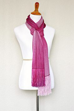 "Woven scarf, #pashmina with very smooth gradient color change. Perfect gift or her! The scarf is long and comfortable.   Measures: L: 78"" with 6"" fringe on both ends W: 10"" ... #ombre #apparel"