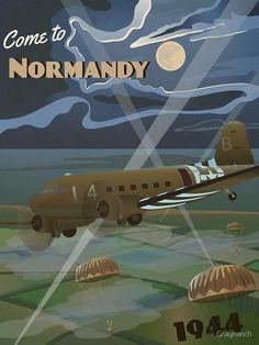 "'Normandy 1944 ""D-Day Travel Poster""' Canvas Print by Grayhanch"