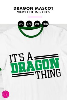 a50a4232 It's a Dragon Thing | SVG DXF EPS PNG Cut Files Retro Athletic Dragons  Design for