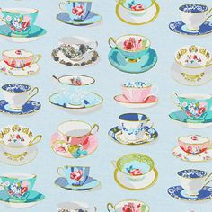 5 o´clock Tea 1 - Katoen - lichtblauw