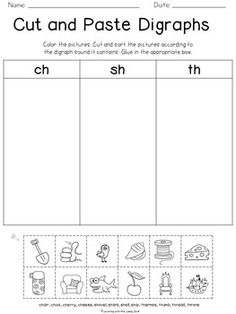 Blends and Digraphs {freebie} Teaching Phonics, Phonics Activities, Teaching Reading, Learning, Reading Activities, Reading Resources, Guided Reading, Free Reading, Teaching Ideas