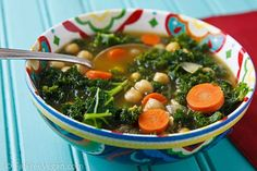 North African Chickpea and Kale Soup. A better use for your kale cannot be found!