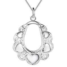 2016 Nuevo Diseño de joyería de moda collar de plata colgante en forma de corazón para las mujeres del regalo de boda de calidad Superior…