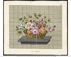 Nurnberg woolwork chart: Floral