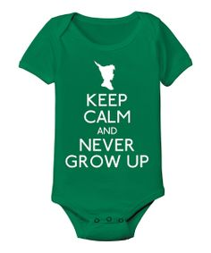 Kelly Green 'Never Grow Up' Bodysuit - Infant | something special every day
