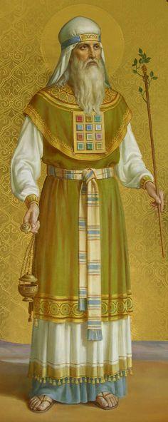 Holy Prophet Aaron / Святой Пророк Аарон, икона в академическом стиле