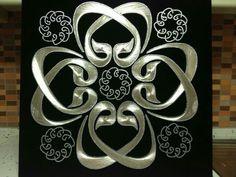 Vav ların aşkı The Art Of Nails, String Art Patterns, Logo Design, Graphic Design, Islamic Art, Collage, Bling, Shoulder Bag, Flowers