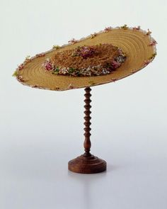 Straw hat, 18th century 1750-1770, probably French