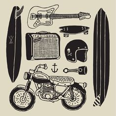 Illustration by Terminal Radness #skate #bike #surf
