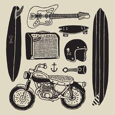 Illustration by Terminal Radness #skate #bike #surf
