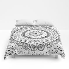 Mandala Love Comforters by Laura Frere - Queen: x Comforters, Ottoman, Blanket, Chair, Bed, Stuff To Buy, Furniture, Home Decor, Mandalas
