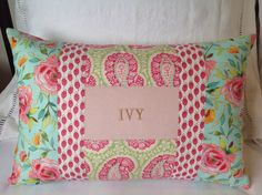 Name cushion 14 x 21 by rosiestar on Etsy, $56.00