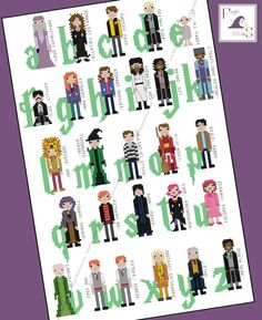 Today's featured #crossstitch pattern: Introduce the next generation to the world of Harry Potter with this large cross stitch pattern featuring 26 different characters from JK Rowling's award winning book serie... #geek #alphabet #dumbledore #gryffindor #ravenclaw #weasley #nerd