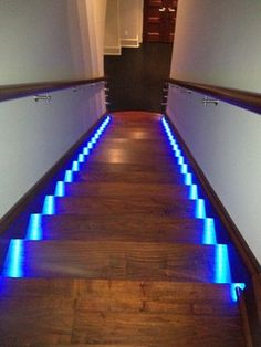 Blue Lights For Theater Room Stairs