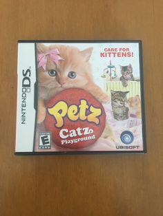Petz Catz Playground Nintendo DS Game on Mercari Nintendo Ds, Nintendo Games, Kitten Care, Ds Games, Playstation Games, Playground, Arcade, Kittens, Kawaii