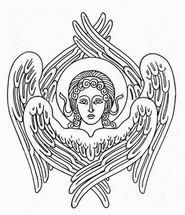 Religious Images, Religious Icons, Religious Art, Drawing Icon, Line Drawing, Order Of Angels, Angelic Symbols, Faith Of Our Fathers, Paint Icon