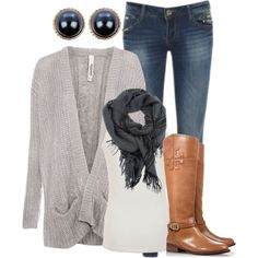 """""""simple look for fall"""" by norynieves on Polyvore"""