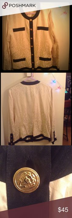 Vintage Adrianna Papell 100% silk Blouse Beautiful blouse 100% silk ,button down Adrianna Papell Tops Button Down Shirts