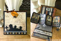 DC01 - Shelly Hickox using the Twist Panel, Halloween Scene, Halloween Elements and House & Fence die sets from karenburniston.com