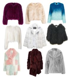 """""""❄jackets❄"""" by dreamerz-dream-on ❤ liked on Polyvore featuring Unreal Fur, Giamba, Lilly e Violetta, Topshop, Meteo by Yves Salomon and Jakke"""