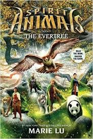 Spirit Animals Book 7: The Evertree by Marie Lu (released March 31, 2015). Conor, Abeke, Meilin, and Rollan have journeyed across Erdas, racing to stop a merciless foe. Now that journey is about to end. They must reach a place forgotten by time and face off against an ancient enemy breaking free from his prison. They have just one chance to stop him -- or the whole world will shatter.