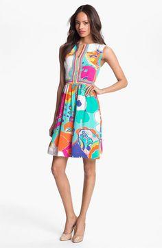 Chic Colorful Dresses: Trina Turk Crushes Sea Cove Silk A-Line Dress
