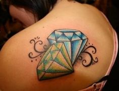 One interesting tattoo that you may find interest in is the diamond tattoo. Diamond tattoos are quite popular and considered to be a main stream tattoo design. Diamond tattoos can be worn by both men and women. Diamond tattoos may be designed alone. 3d Tattoos, Great Tattoos, Beautiful Tattoos, Girl Tattoos, Tatoos, Twin Tattoos, Awesome Tattoos, Tattoo Girls, Beautiful Body