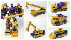 Oversized transformers combiners construction team 6 in 1