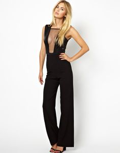 .this jumpsuit, would be great for a party, its design is simple but sexy, finish with a nice pair of gold heels for ultimate disco chic